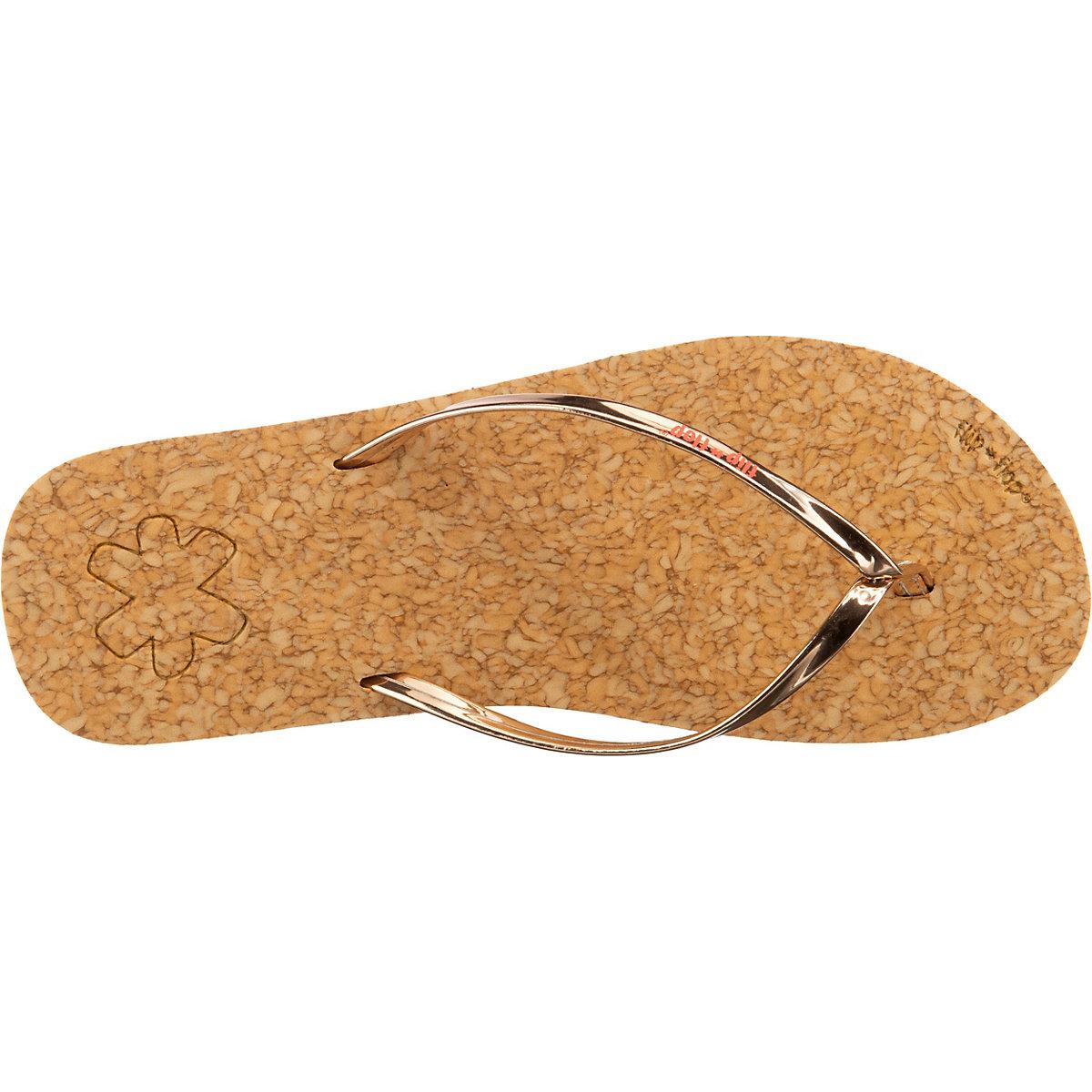 flip flop Flip*noble Corgi Zehentrenner gold-kombi