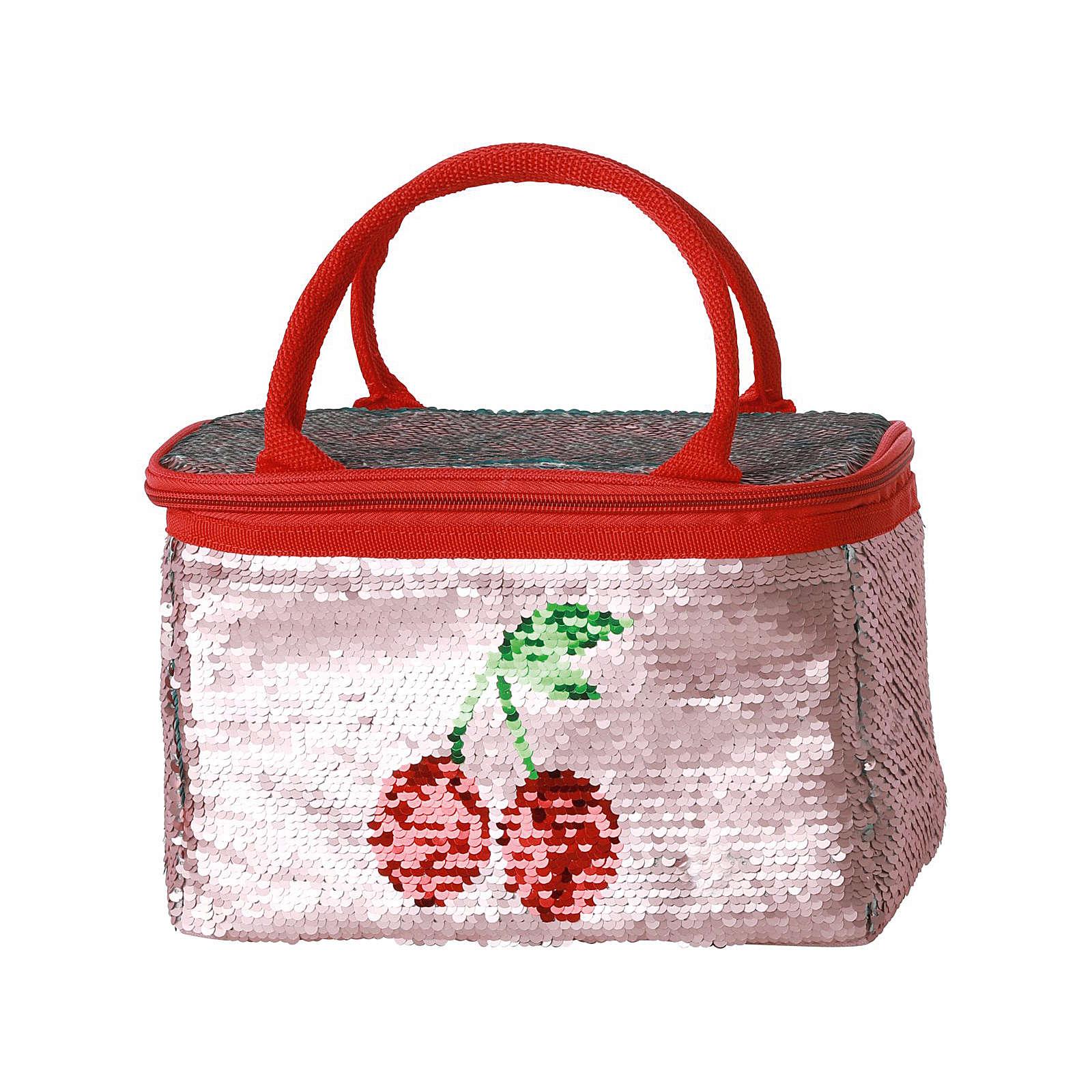 rice Kühltasche mit Kirschmotiv, 4 l rosa/rot