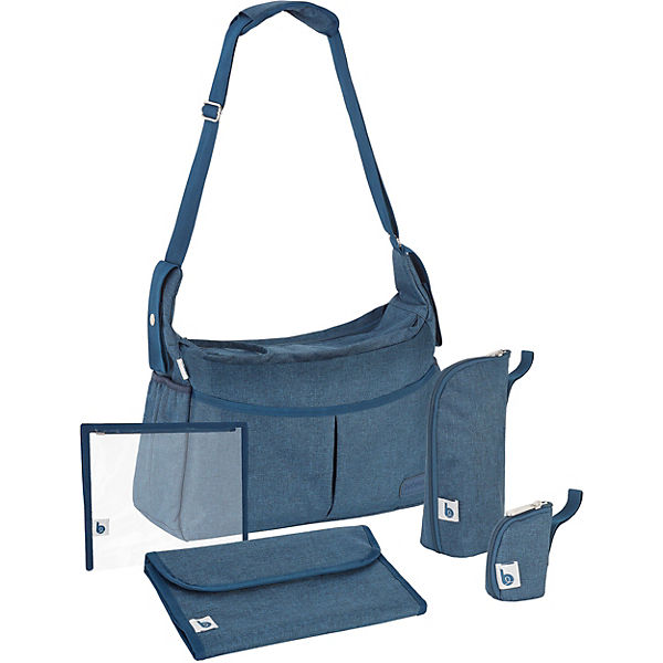 Wickeltasche Urban Bag, Blue Melange