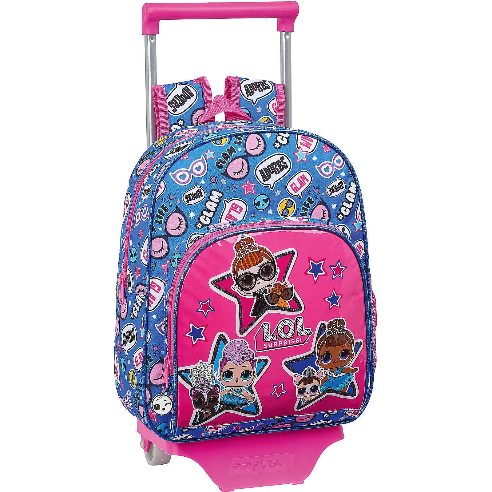 safta Rucksack-Trolley L.O.L. Surprise! Together pink/blau Mädchen
