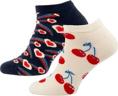 2-Pack Shooting Heart Low Sock