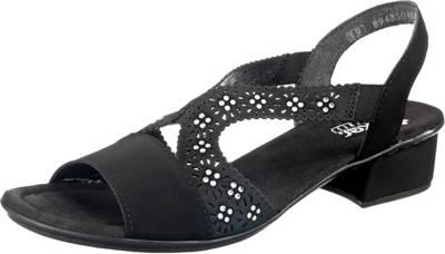 rieker, Klassische Sandaletten, schwarz