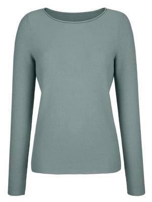 Alba Moda Pullover langarm pullover gestreift lässig normal leicht elastisch