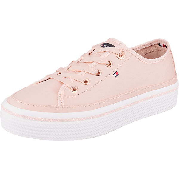 Glitter Detail Flatform  Sneakers Low