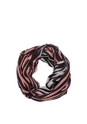 Damen Loop Schlauchschal Tube Knitwear Triangel Spitz Dreieck Weiss Rot Schwarz