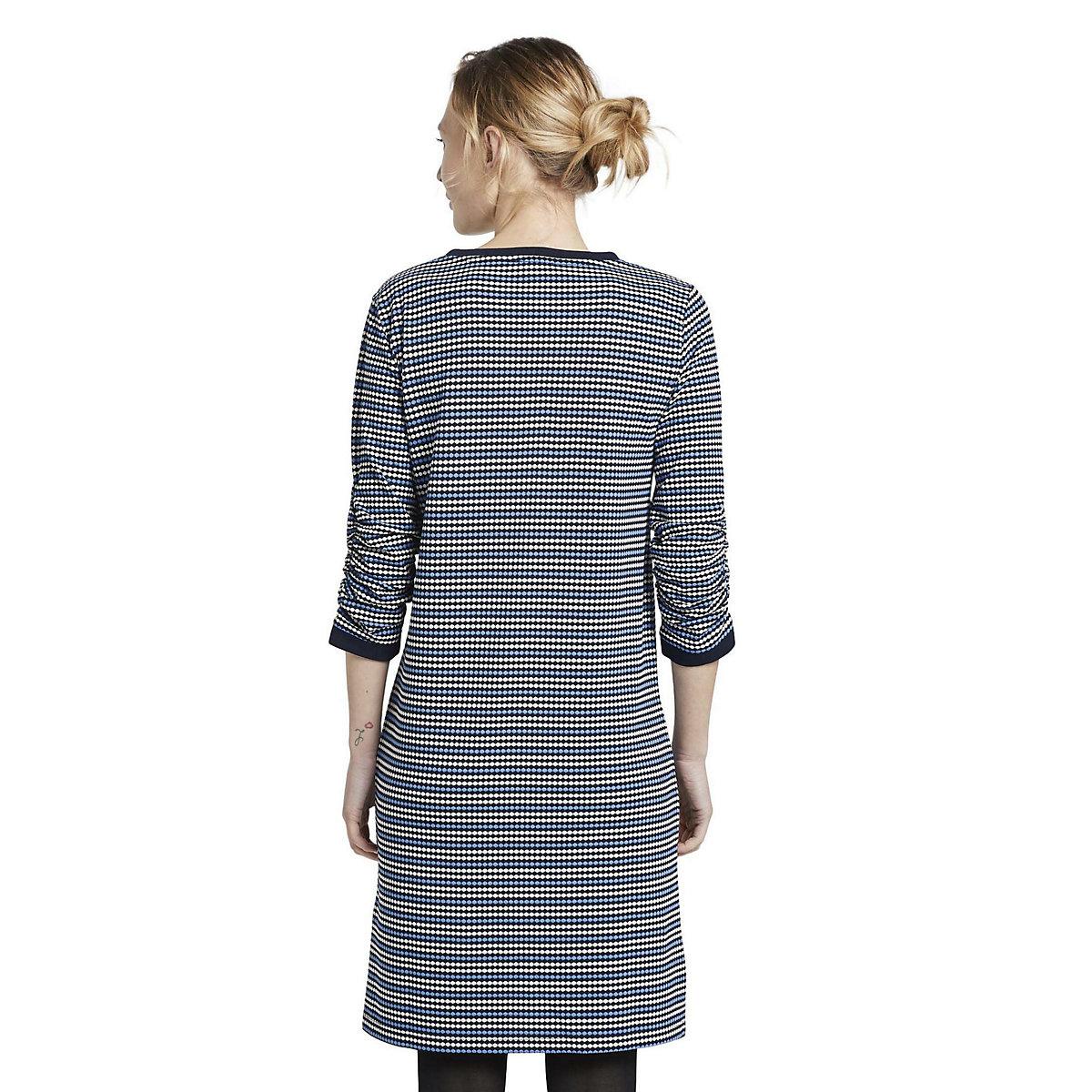 TOM TAILOR Kleider & Jumpsuits Gepunktetes Minikleid aus Jersey Jerseykleider weiß