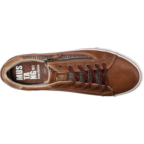MUSTANG Sneakers Low cognac
