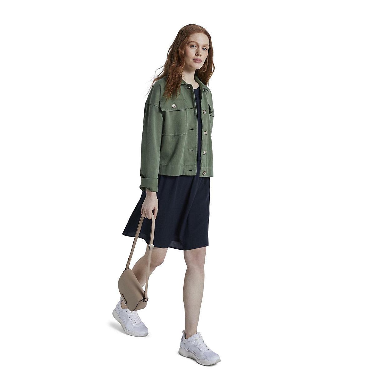 TOM TAILOR Denim Kleider & Jumpsuits Neckholder Minikleid Jerseykleider dunkelblau