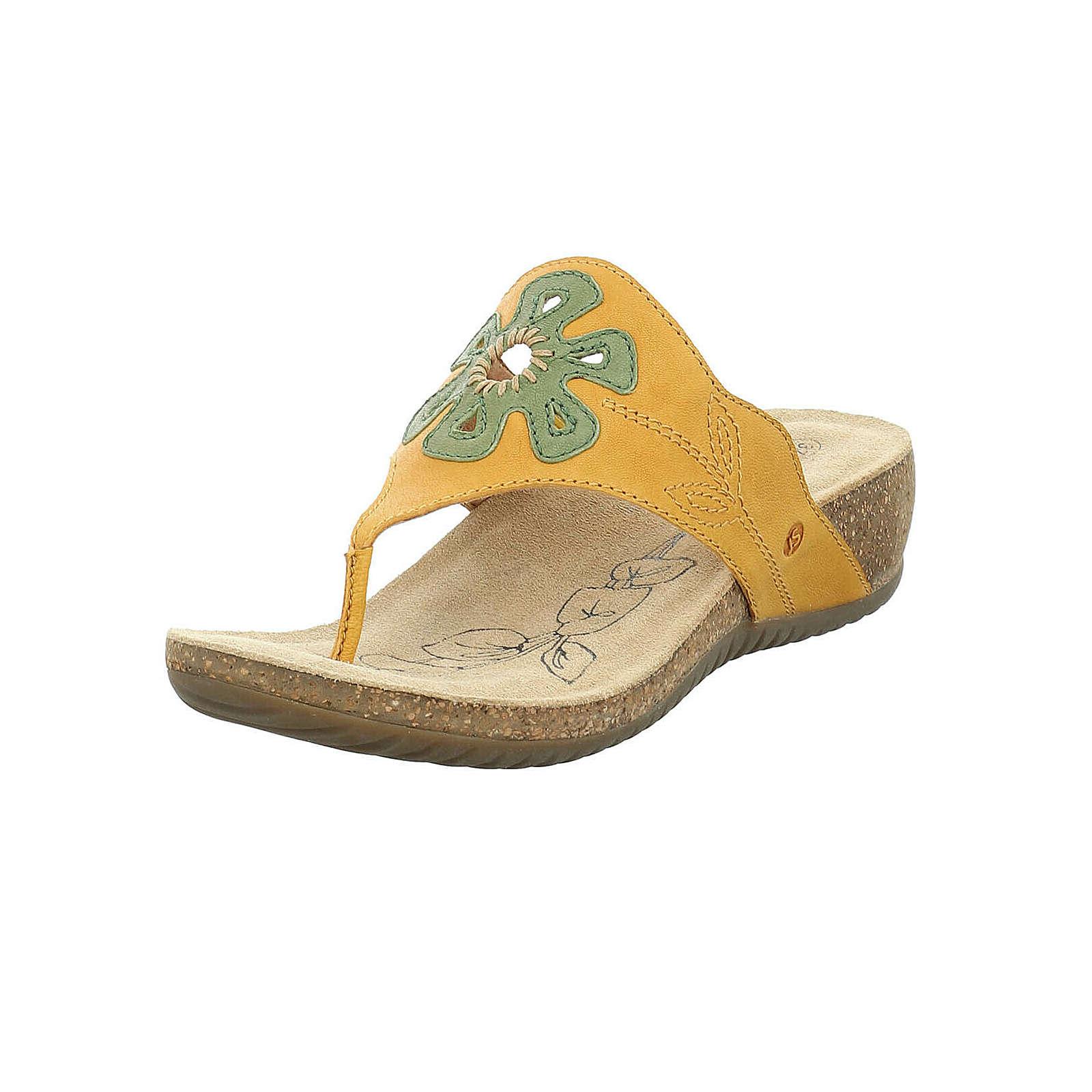 Artikel klicken und genauer betrachten! - Der bequeme Damen-Zehentrenner der Marke Josef Seibel aus Leder wird von nun an Ihr ständiger Begleiter sein. Die Decksohle aus Rindsvelour ist hochwertig verarbeitet und bietet optimalen Komfort. Der Schuh verfügt über eine Weite G, ideal für den ganz normalen Fuß. Der Keilabsatz hat eine Absatzhöhe von 4 cm. Die stabile Laufsohle ist aus Gummi/Kork, diese Sohle ist robust, stabil und strapazierfähig.   im Online Shop kaufen