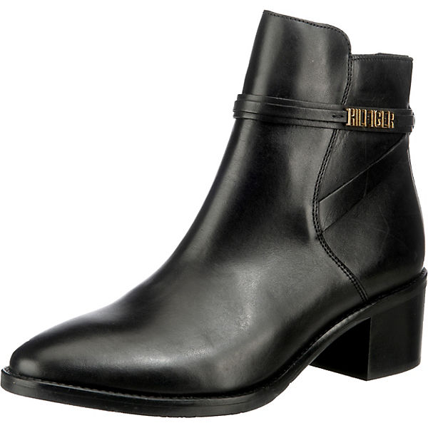 Block Branding Leather Mid Boot Klassische Stiefeletten