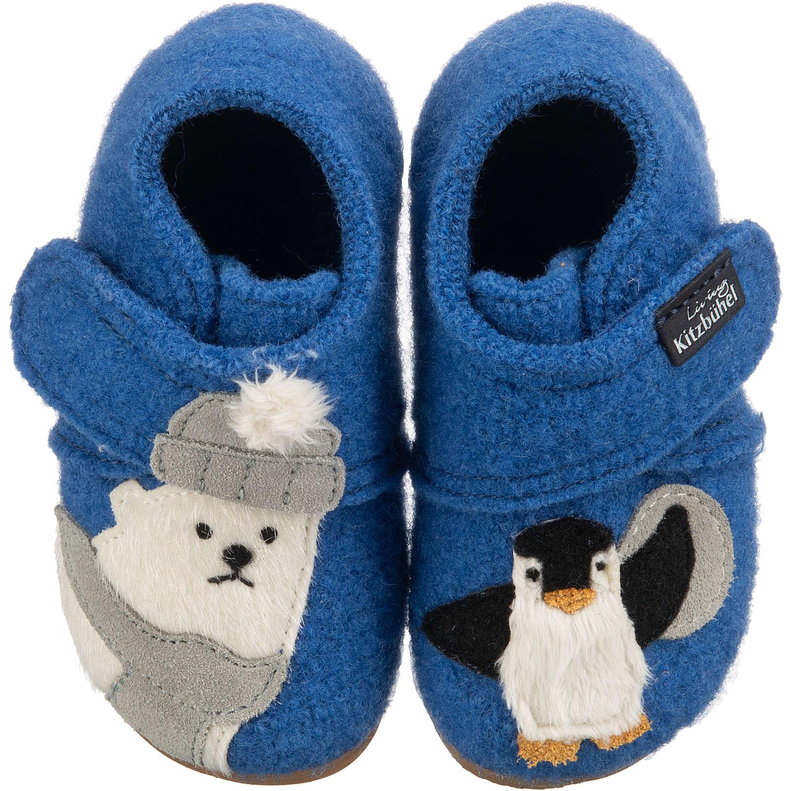 Living Kitzbühel Baby Hausschuhe Eisbär & Pinguin für Jungen blau Junge Gr. 30