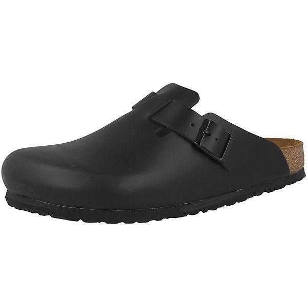Beste Wahl BIRKENSTOCK Boston Smooth Leather Leder Clogs normal schwarz
