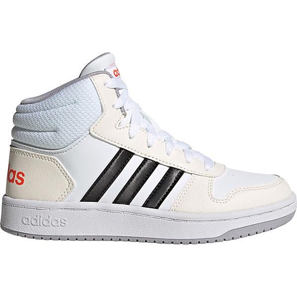 Neu und Mode adidas Sport Inspired  Kinder Sneakers High HOOPS 2.0  weiß 2sWbQ