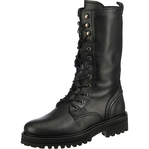 Lace Up Longboot Schnürstiefel