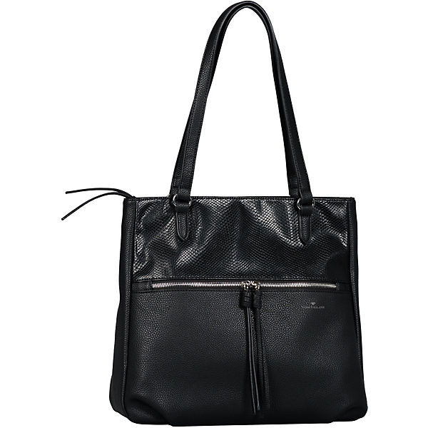 Helina Shopper, Zip Shopper L Snake Black Shopper