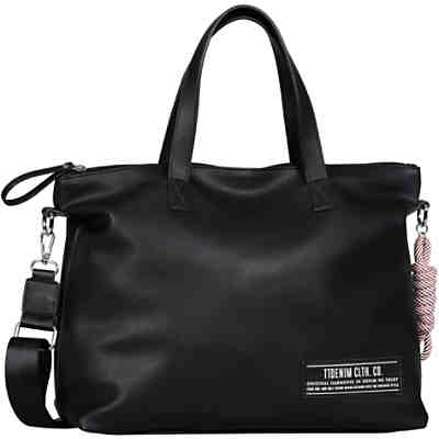 Levina Zip Shopper L, Black Shopper