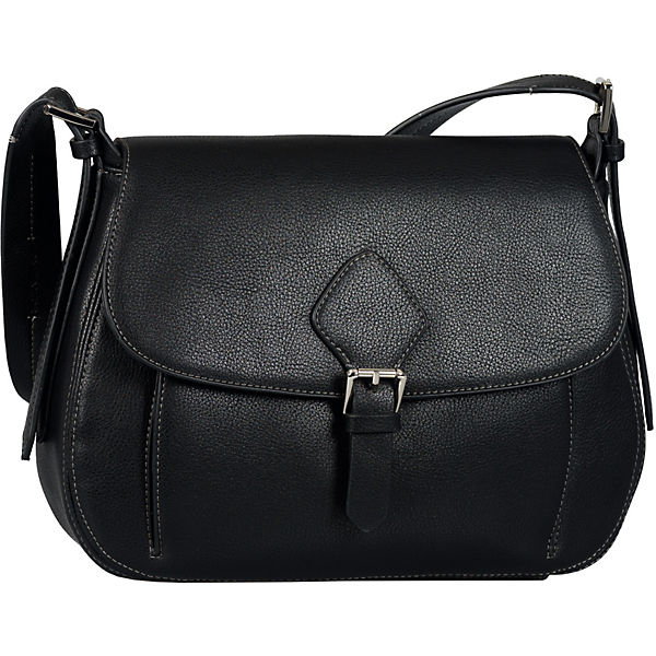 Milana Flap Bag, Flap Bag M Top Zip  Black Handtasche
