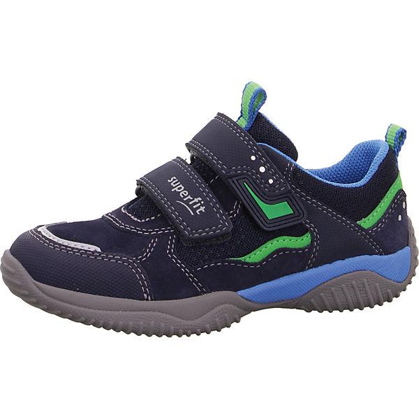 Gutes Angebot superfit Sneakers Low STORM für Jungen blau/grün