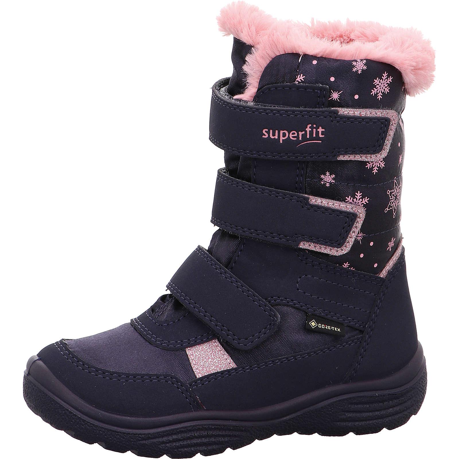 superfit Winterstiefel CRYSTAL für Mädchen rosa/blau Mädchen Gr. 27