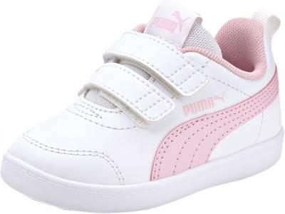 PUMA, Baby Sneakers Low COURTFLEX V2 V INF für Jungen, weiß