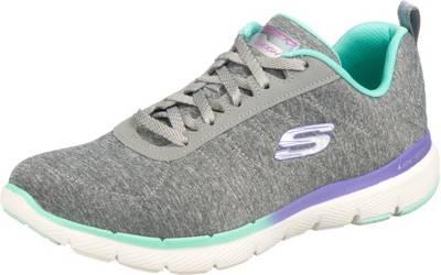 Skechers Damen Sneaker FLEX APPEAL 3.0 PURE VELOCITY Grau