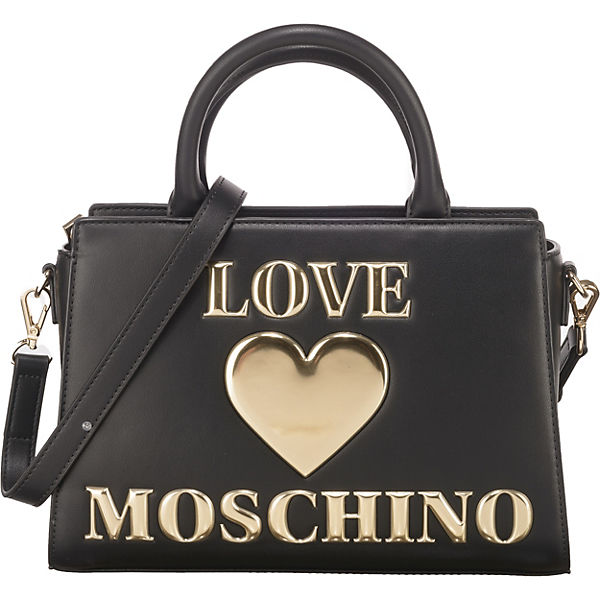 Padded Shiny Heart Handtasche