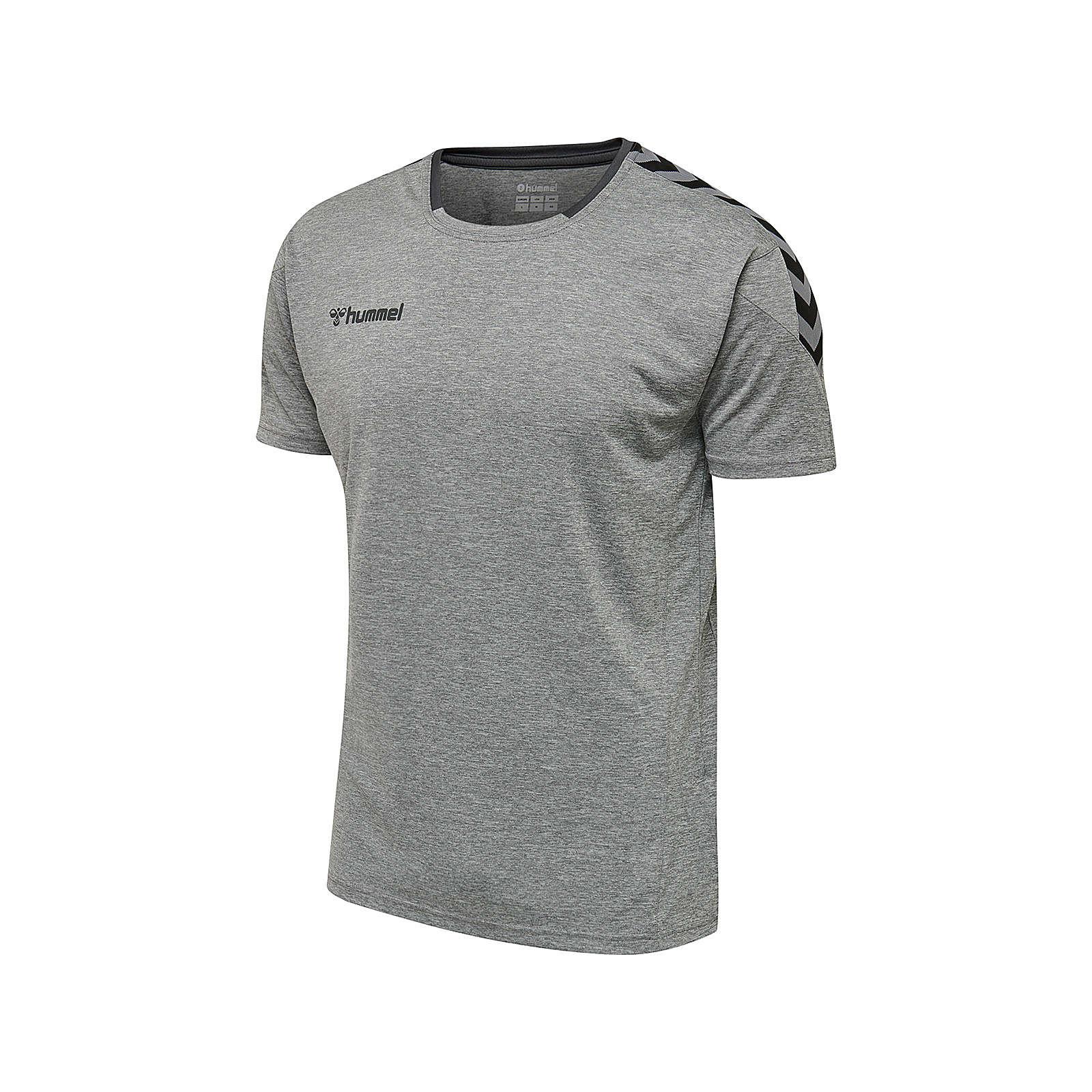 hummel hmlAUTHENTIC POLY JERSEY S/S T-Shirts grau Herren Gr. 44