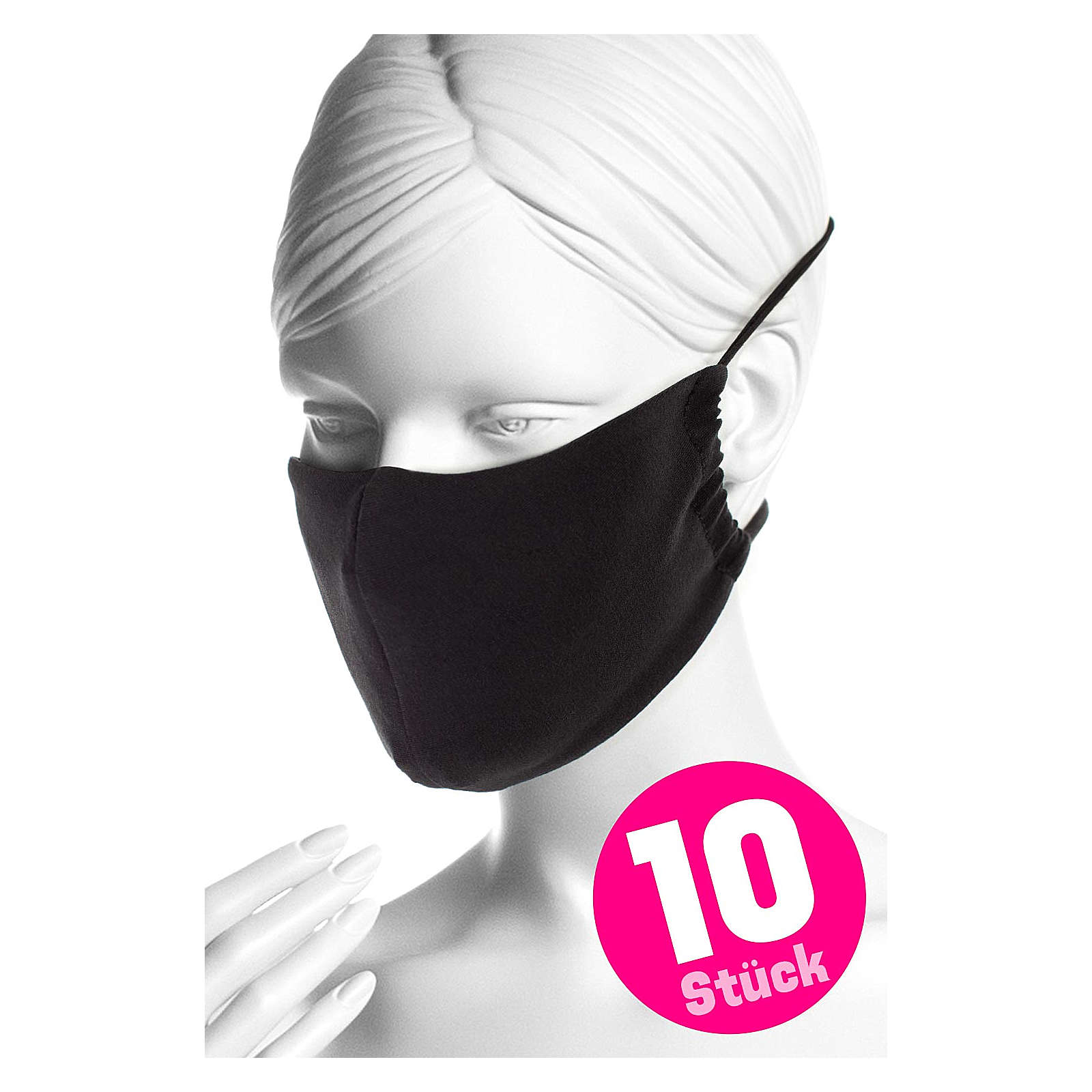 Winshape Mund- und Nasenmaske WMSM1-10 Mund-Nasen-Masken schwarz Damen Gr. one size