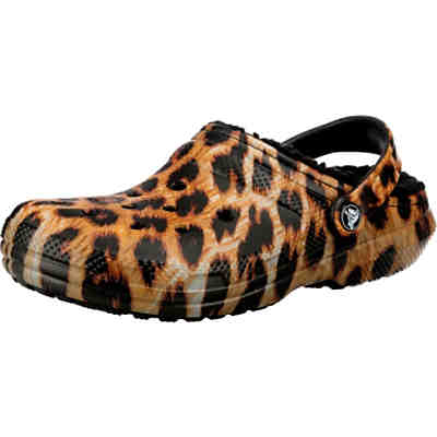 Classic Lined Animal Print Clg Clogs