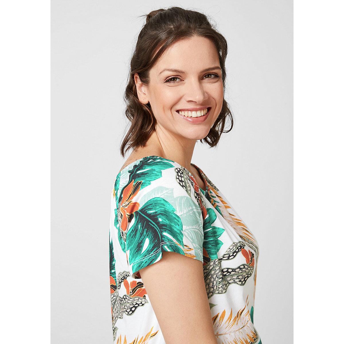 TRIANGLE Jerseyshirt mit Carmenausschnitt T-Shirts weiß
