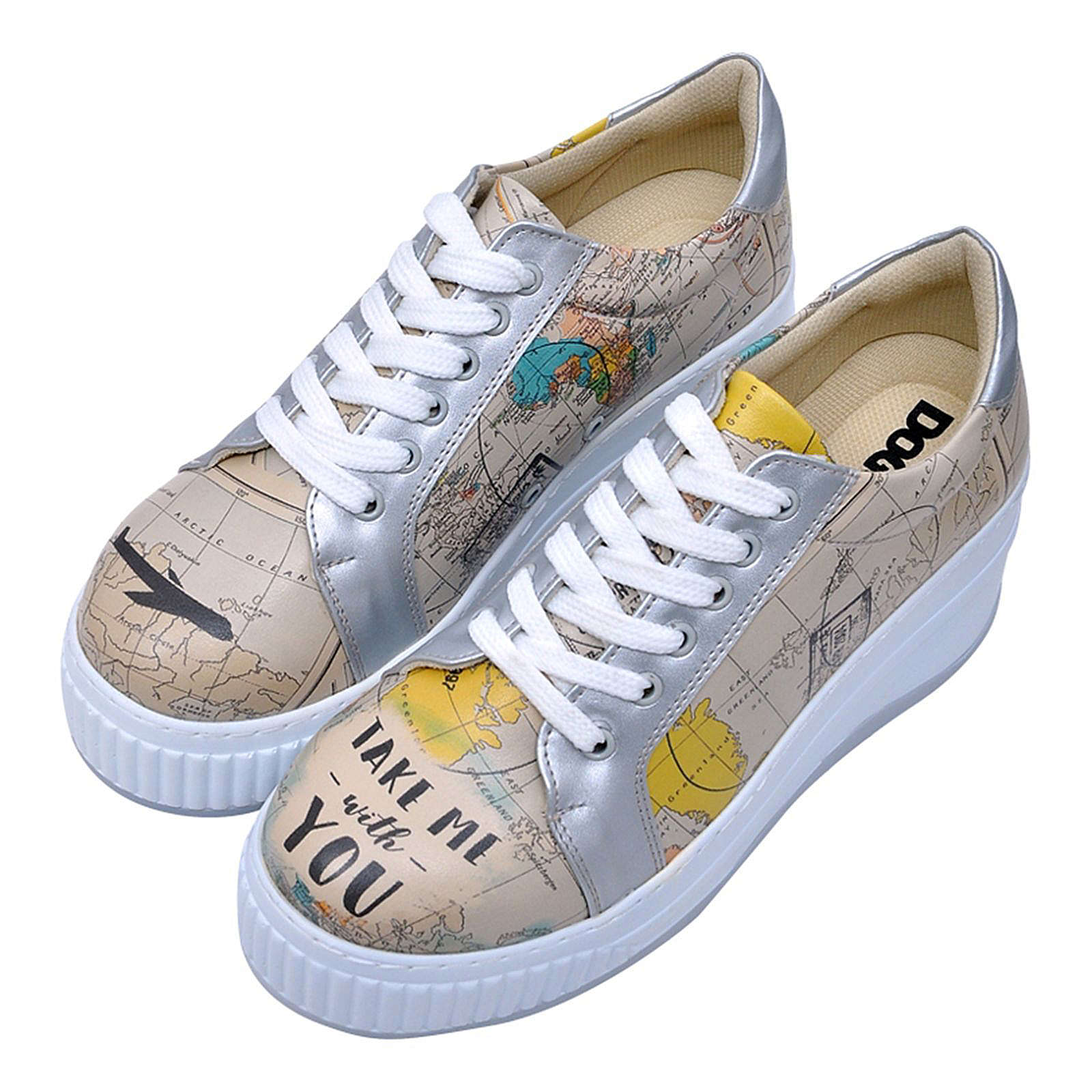 Dogo Shoes DOGO Loretta Take me with you Sneakers Low natur Damen Gr. 36