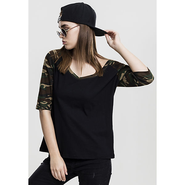 Ladies 3/4 Contrast Raglan Tee 3/4-Arm-Shirts