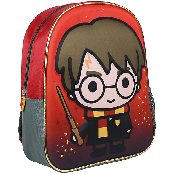 3D-Kinderrucksack Harry Potter rot