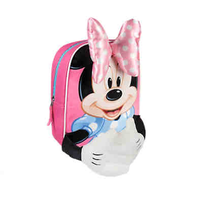 3D-Kinderrucksack Minnie Mouse rosa