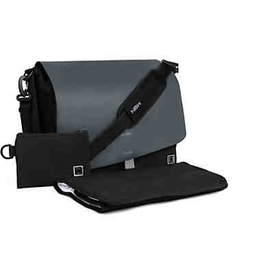 Wickeltasche, anthrazit flap