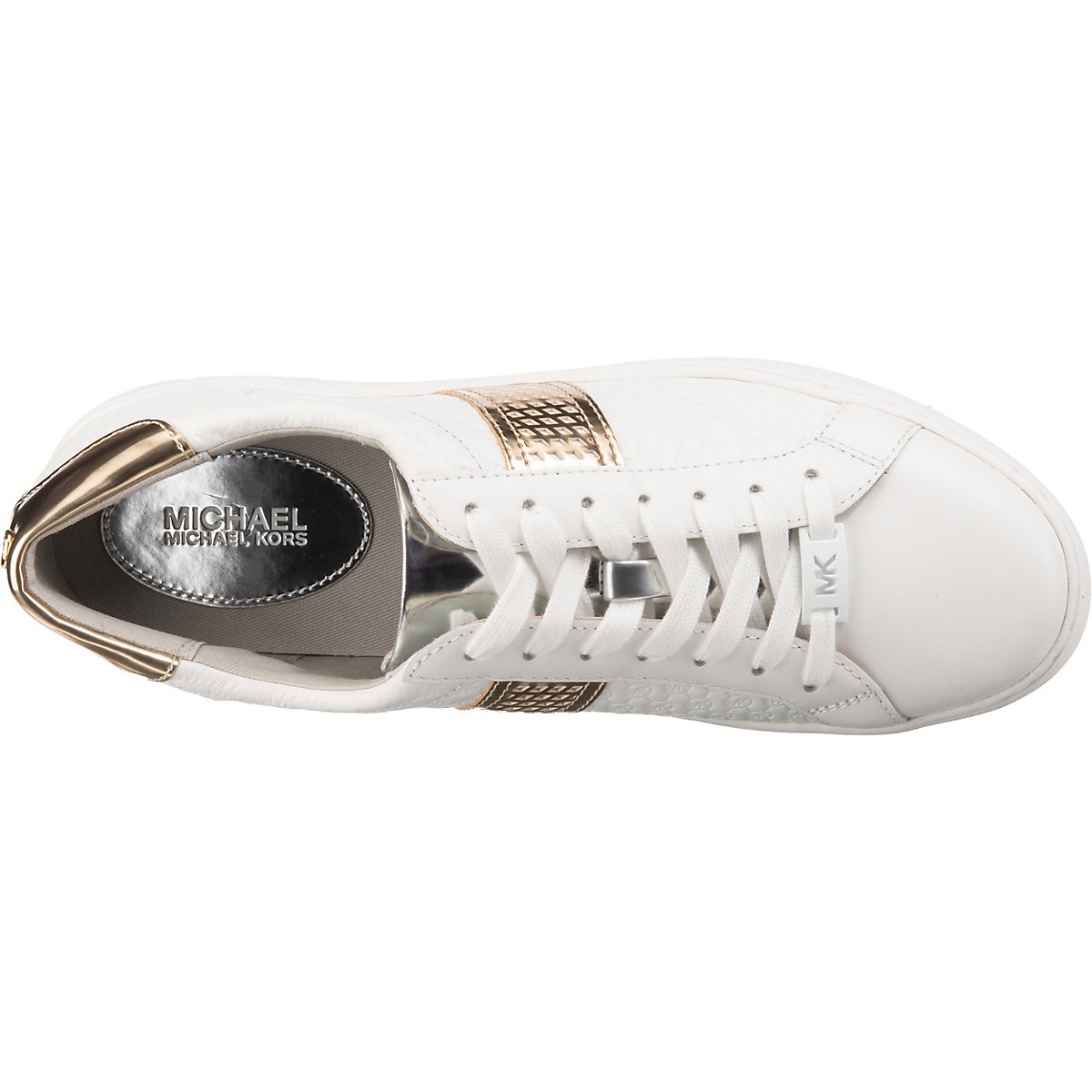 MICHAEL KORS, Irving Stripe Lace Up Sneakers Low, weiß ...