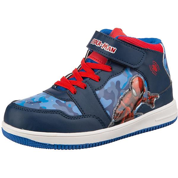 TVM Europe GmbH Spiderman Sneaker Turnschuh für Jungen dunkelblau grau