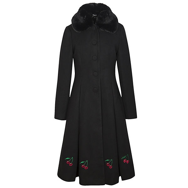 Cherries Long Coat Mäntel