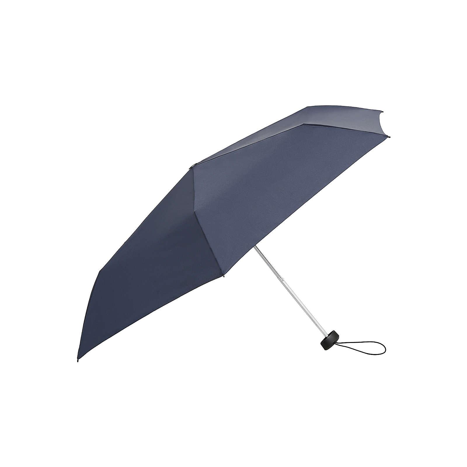 Knirps Regenschirm AS.050 Slim Small Manual Regenschirme natur/blau Herren Gr. one size