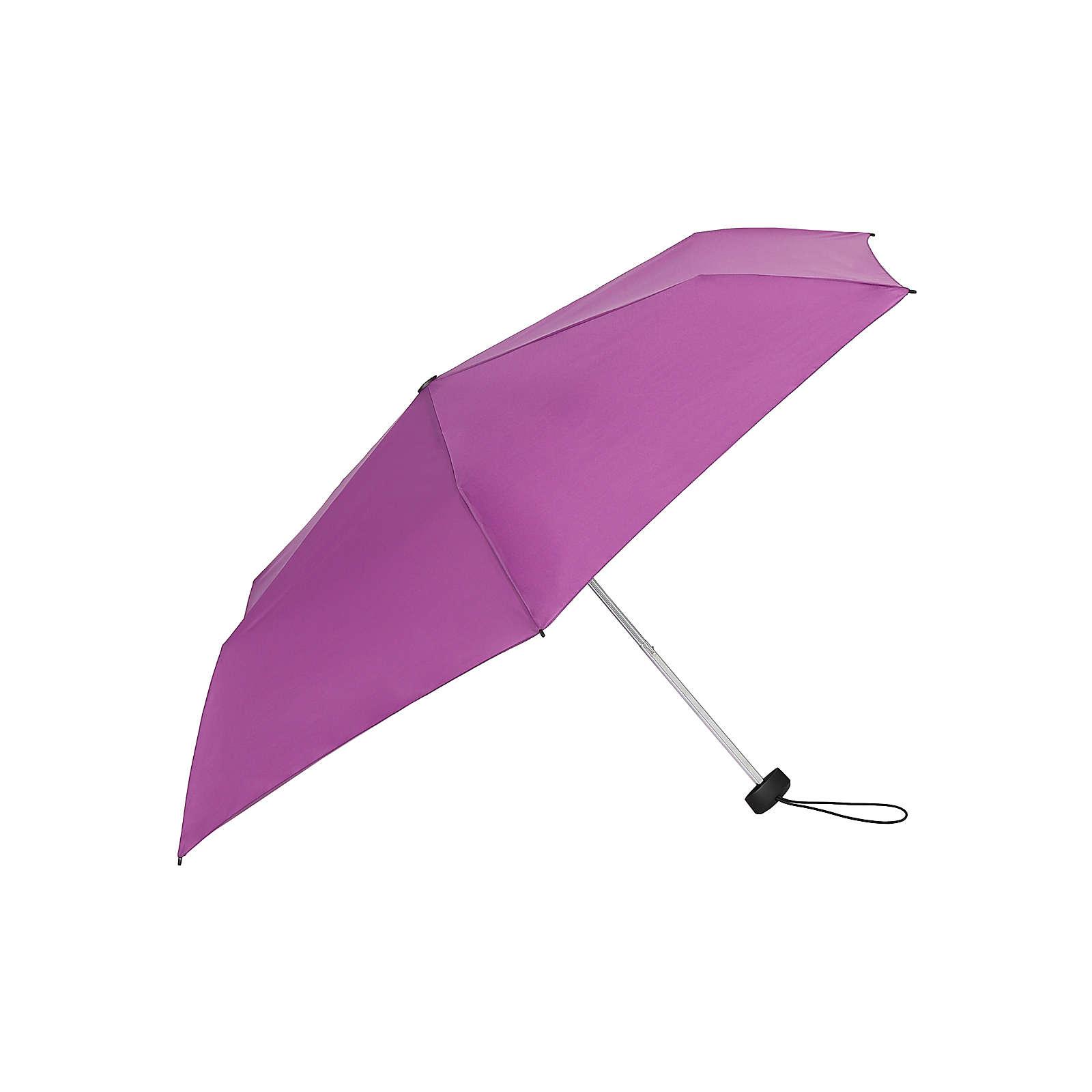 Knirps Regenschirm AS.050 Slim Small Manual Regenschirme violett Herren Gr. one size