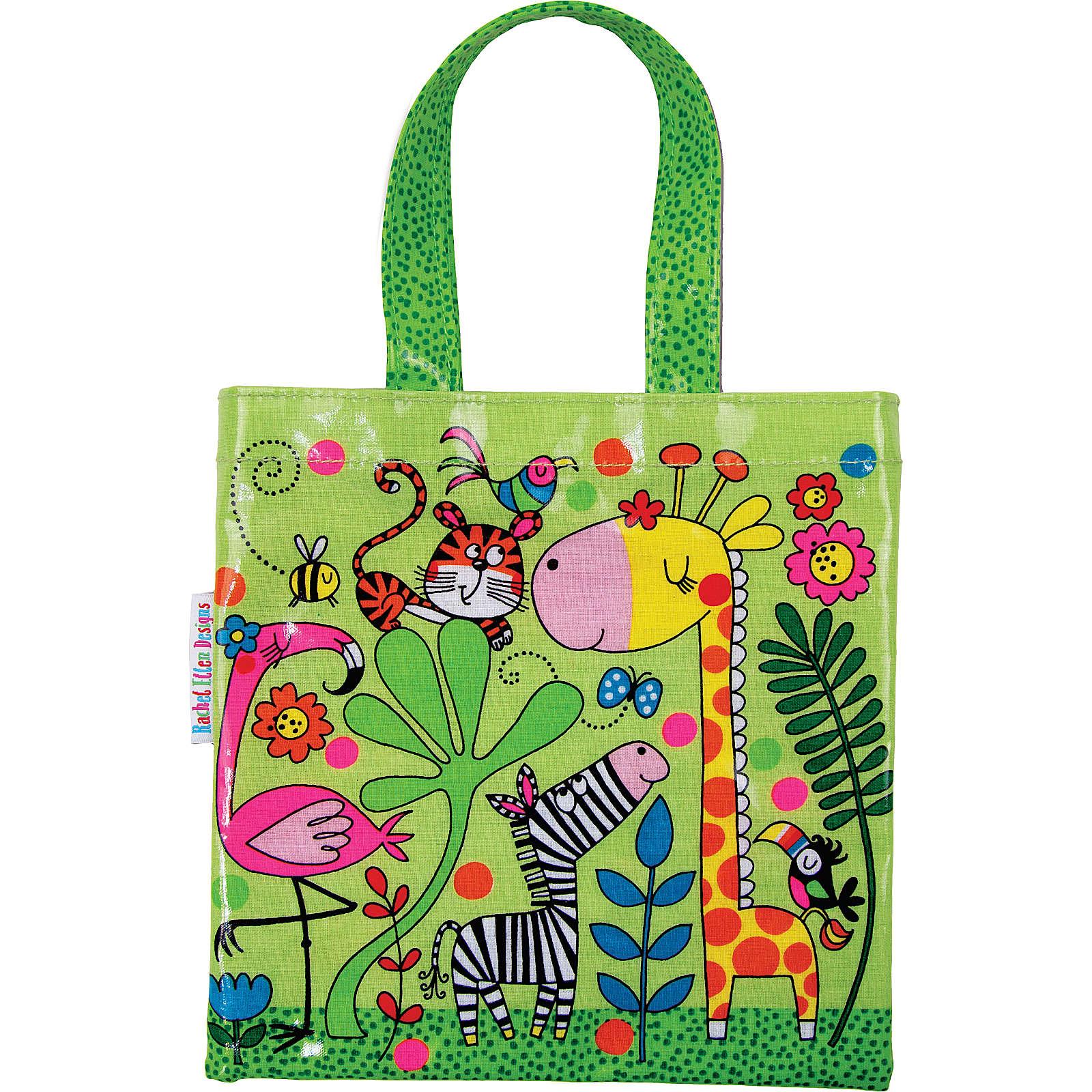PARTYSTROLCHE® Shopper Mini-Tragetasche Dschungel, 20 x 20 cm hellgrün