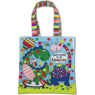 Shopper Mini-Tragetasche Frecher Dino, 20 x 20 cm
