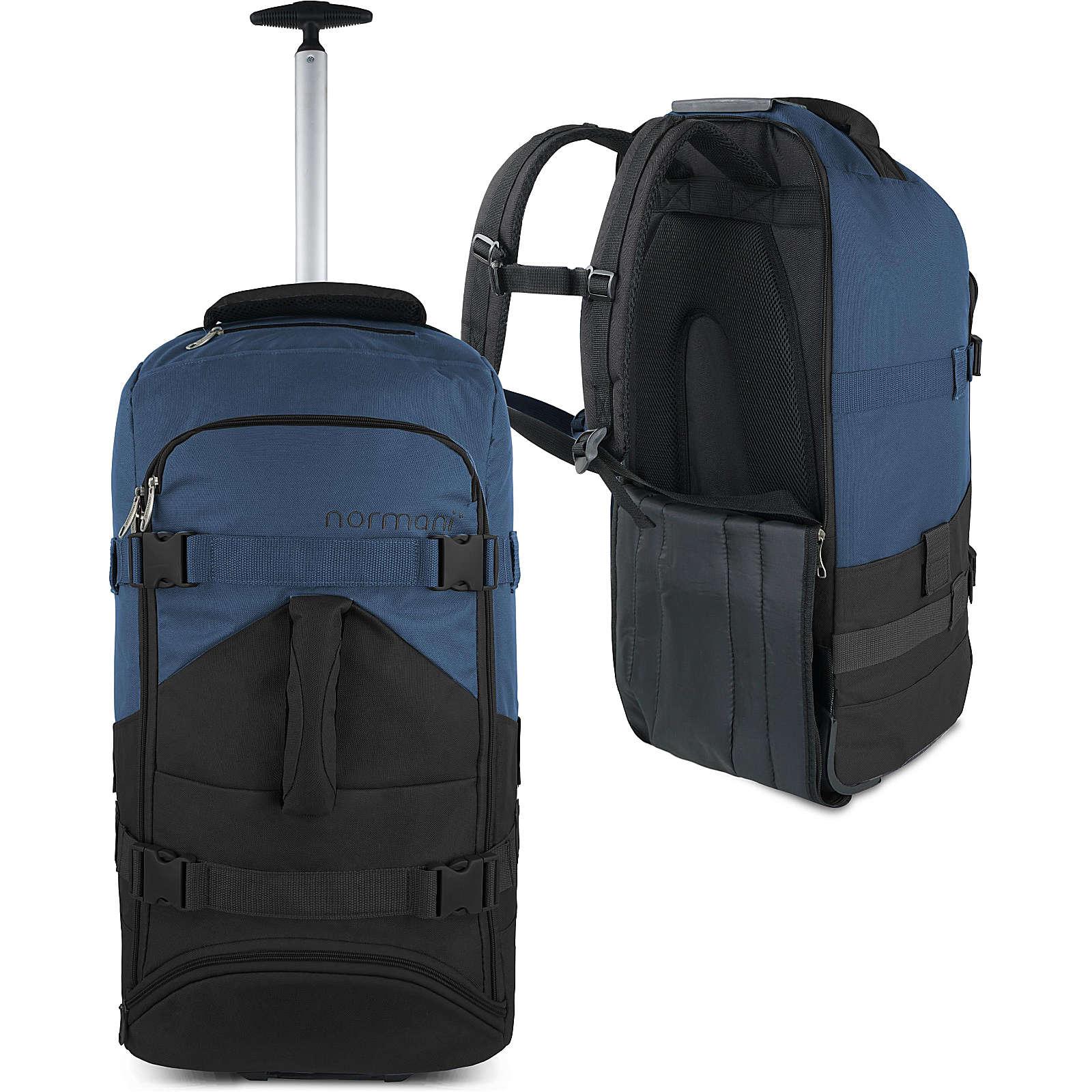 normani® Reisetasche mit Rucksackfunktion 60 Liter Melano Reisetaschen schwarz/grau