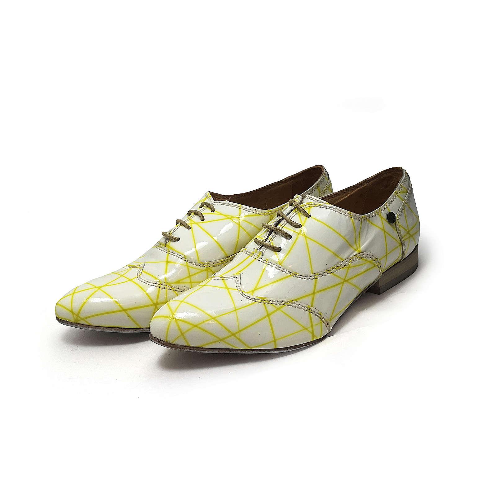 Tiggers® Tiggers Tiggers Biggi 01 a Business Schuh gelb Business-Schnürschuhe gelb/weiß Damen Gr. 36