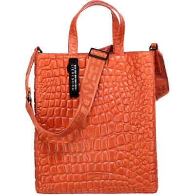 Paper Bag Croco Tote M Shopper