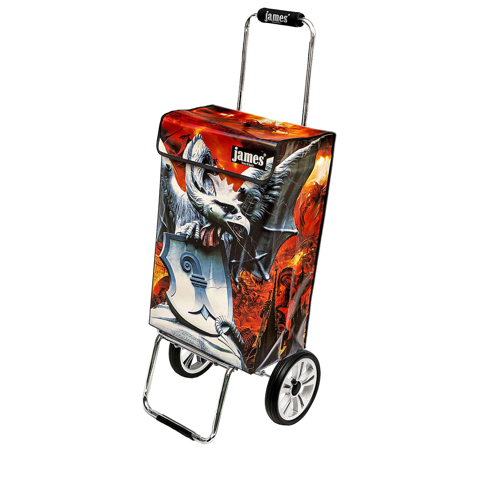james® Design BASILISK deluxe 1basi1239900xa Einkaufstrolley Einkaufstrolleys orange