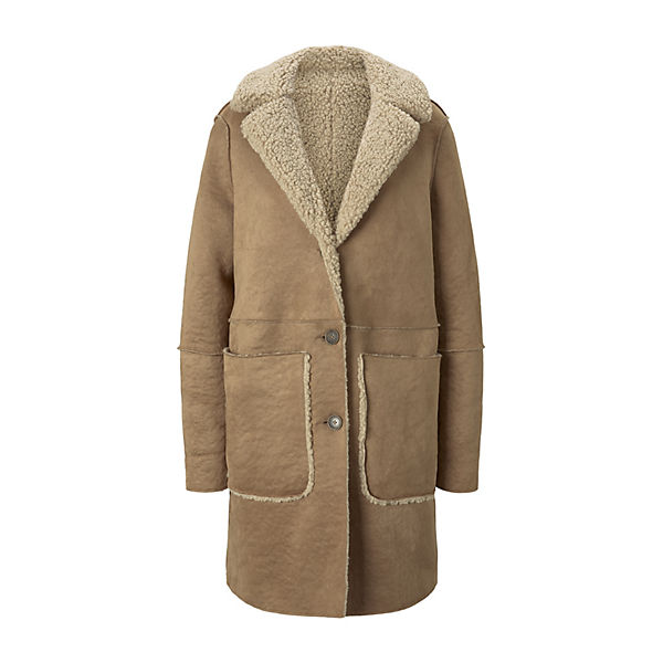 Jacken Shearling Wendemantel aus Kunstfell  Outdoorjacken