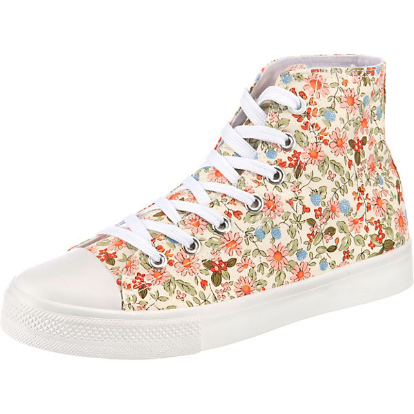 Flowered Sneaker High