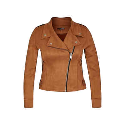 Biker-Jacke in Velourleder-Optik Lederjacken