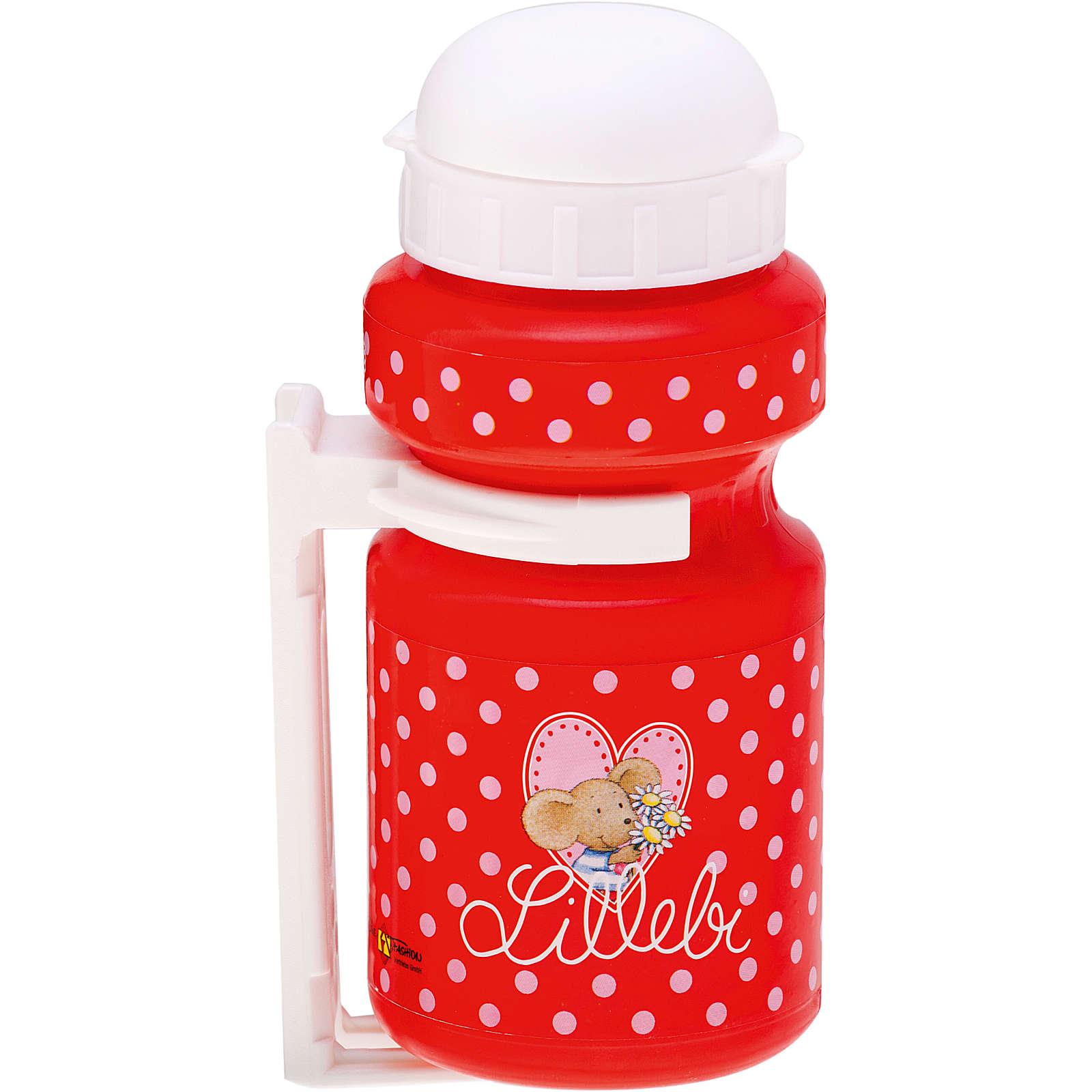 Bike Fashion Lillebi Trinkflasche mit Rahmenhalterung rot Mädchen Gr. 300